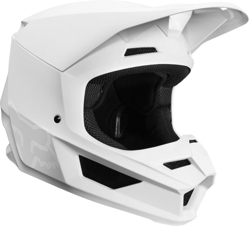 7ec958a2 Fox V1 Helmet Matte Wht Xl [21828-008-XL] : Trevor Pope Motorcycles, Parts,  Spares, Accessories and more