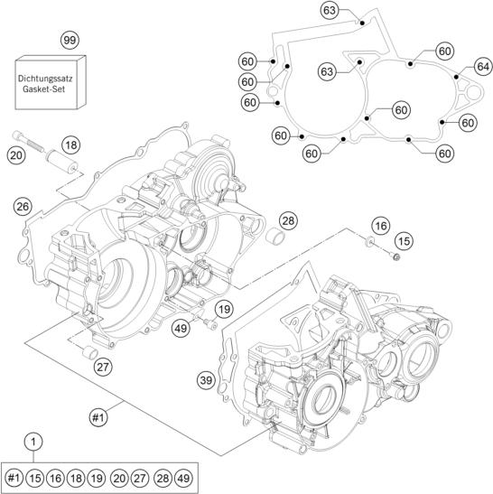 Ktm Fiche Finder Engine Case Spare Parts For The Ktm 250 Xc W Us