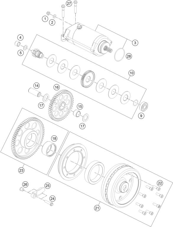 Ktm Fiche Finder Electric Starter Spare Parts For The Ktm 1090
