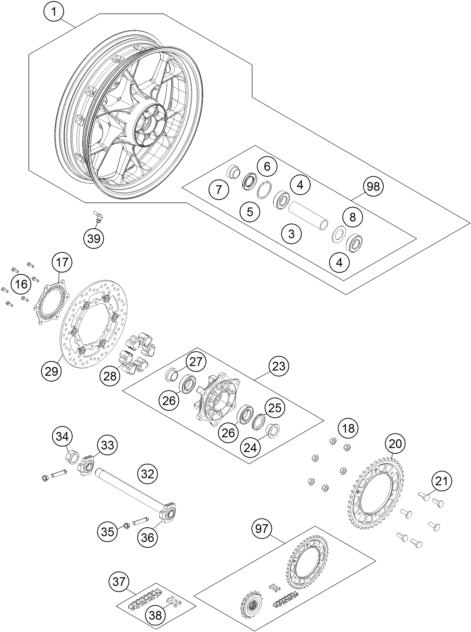 Ktm Fiche Finder Rear Wheel Spare Parts For The Ktm 1090 Adventure