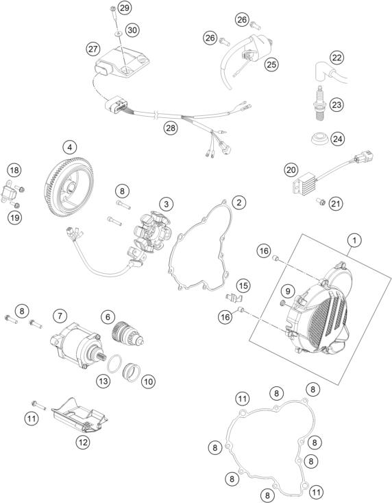 Ktm Fiche Finder Ignition System Spare Parts For The Ktm 250 Exc