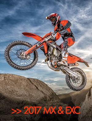 KTM 2017 EXC and MX bike